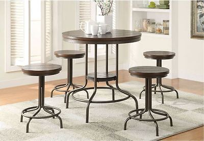 Miraculous Pub Table Set 5 Piece Rustic Dining Counter Height High Top Andrewgaddart Wooden Chair Designs For Living Room Andrewgaddartcom