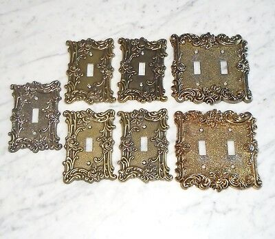 Set of 4 American Tack & Hardware Gothic Rose Single Light Switch Plate Covers 6