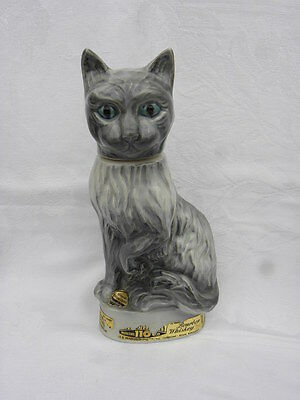 Vintage 1967 Regal China Jim Beam Bourbon Whiskey Gray Cat Decanter