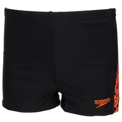 Maillot de bain boxer Speedo Lightnink kid blk orange Noir 83238 - Neuf