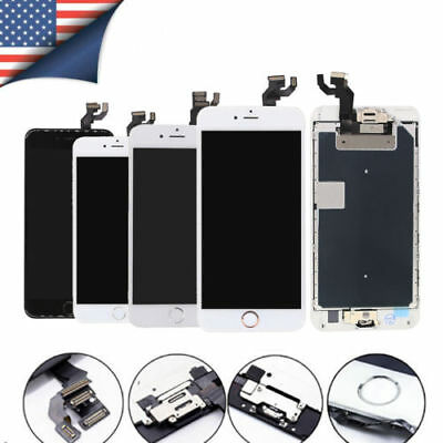 For iPhone 7 6 5 5s LCD Complete Touch Screen Replacement +Home Button + Camera
