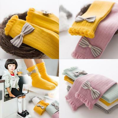 High Quality Cute Lace  Boot Socks Kid's Girl's Sweets Princess Bowknot Striped