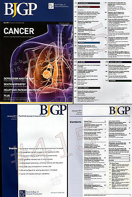 BJGP The BRITISH JOURNAL of GENERAL PRACTICE January + May 2011 (2 issues)