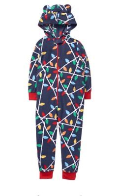 New Gymboree Gymmies Pajamas Christmas Lights Hooded Fleece Pjs NWT 3 4 5 6 8 12
