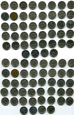 Lot of 44 Coins - 1921-1952 - Canada 5 Cents - Free Shipping - Lot #284