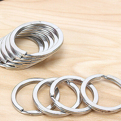 10Pcs 30mm Metal Key Holder Split Rings Keyring Keychain Keyfob Accessories