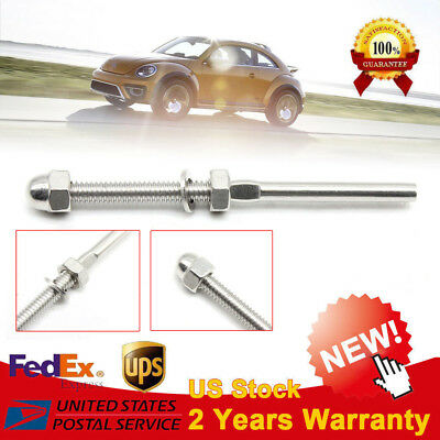 """60x T316 Swage Threaded Tensioner for 1/8"""" Cable Railing Systems Stainless Steel"""