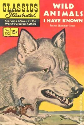 Classics Illustrated 152 Wild Animals I Have Known #2A 1963 VG- 3.5 Stock Image