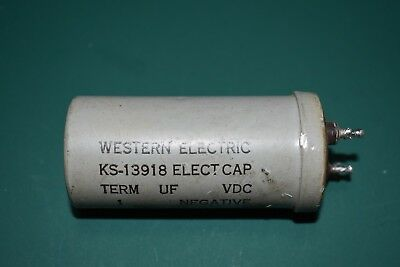Western Electric 1000 uF 25 Vdc Electrolytic Can Capacitor Tested