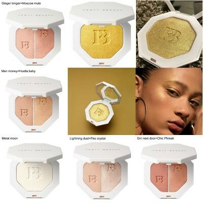 6 Color Fenty Beauty Contour Glossy Bronzing Powder Highlighting Pressed Powder