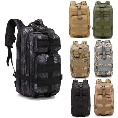 30L Outdoor Military Tactic Backpack Unisex Waterproof Rucksacks Shoulders Bag