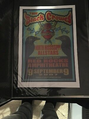The Black Crowes North Mississippi Allstars 2007 Poster Robinson Chris Red Rocks