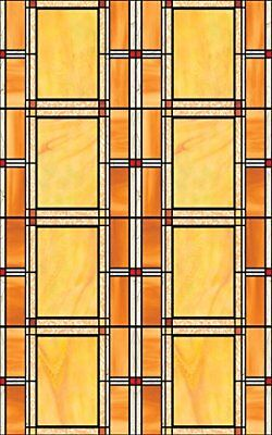 Privacy Stained Glass Window Peel Stick Windows Doors Art Craft Cling Film NEW
