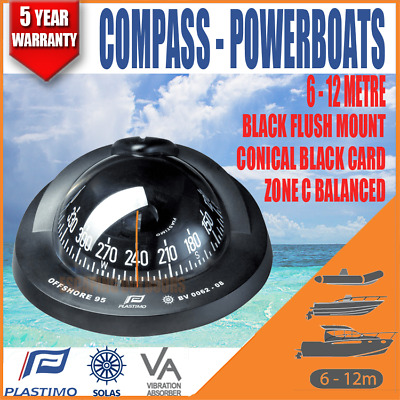 Boat Compass Plastimo Offshore 95 Conical Card Balanced For Zone C Plastimo