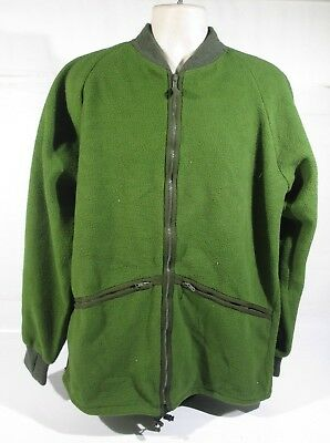 Genuine British Army Fleece Thermal Liner Cold Weather Winter Green