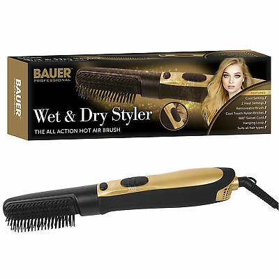 Bauer Professional  Wet And Dry Styler Salon Pro Hair Dryer Hot Air Brush