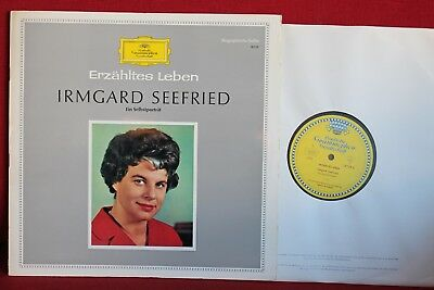 IRMGARD SEEFRIED talks about her life - A self portrait; LP DGG tulips mono