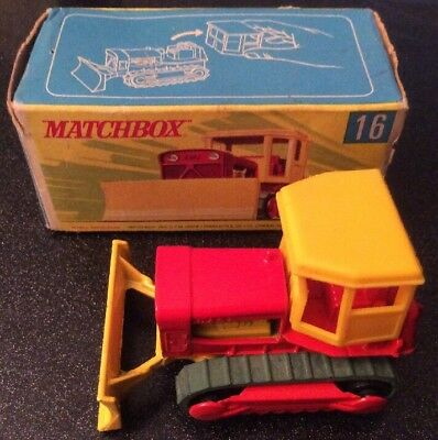 Vintage Lesney Matchbox Superfast #16 Case Tractor Excellent Condition  Boxed
