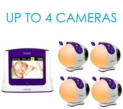 """Oricom Secure 870 SC870 2.4GHZ 3.5"""" Video Baby Monitor With Starry Light Show"""
