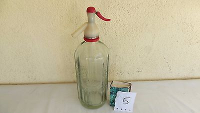 N5. Ancien siphon publicitaire en verre A.E SMITH et SON LTD JERSEY