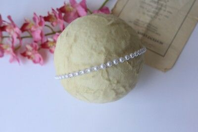 Handmade White Pearl detail Headband - Christening Wedding baby Girl Photo Photo