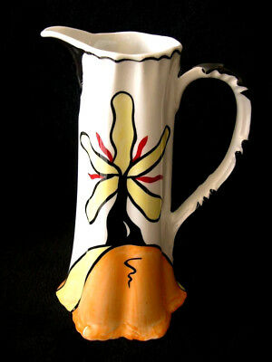 Lorna Bailey Tall Jug In Hillcrest Design Pitcher Unusual Art Deco Collectable