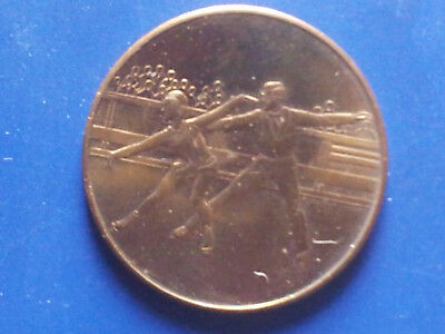 XIII. Olympische Winterspiele Lake Placid 1980, Paarlauf, Messing 6,6 g