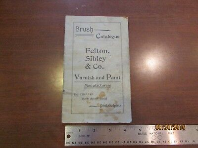 1920s+ Felton Sibley & Co Varnish & Paint Catalog Booklet Stains Folds