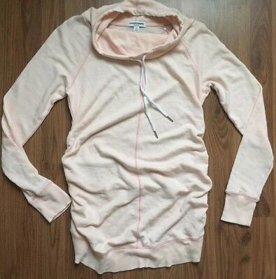 Liz Lange Maternity Long Sleeve Top Howl Tunic Sweater Light Pink Size XS