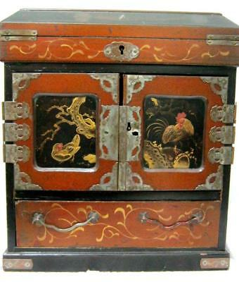 Japanese Lacquer Cabinet Box Early C20th - Beautiful item