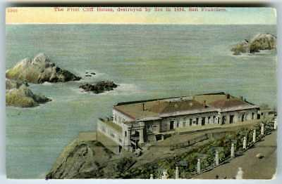 c.1911 SAN FRANCISCO 1ST CLIFF HOUSE (DESTROYED BY FIRE 1894) ORIGINAL POSTCARD