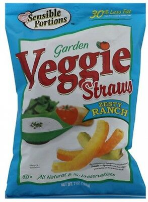 Sensible Portions Zesty Ranch Garden Veggie Straws, 7 Oz, (Pack Of 12)