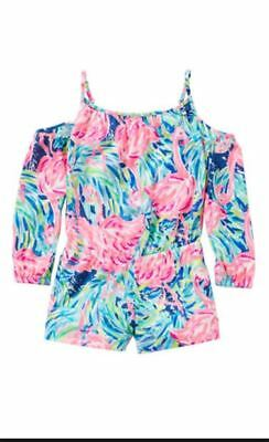 Girls Lilly Pulitzer Candice Romper Size Small (4-5) In Multi Flamenco Beach NWT