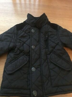 Baby Boys Next Quilted Coat Age 9-12 Months
