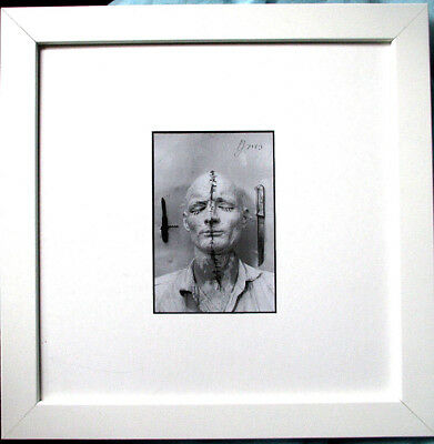 GÜNTHER BRUS >Selbstbemalung< HAND-SIGNIERT, mit Rahmen, orig.signed