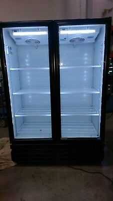 2 Full Door Glass Display Cooler Refrigerator All Led Lighting