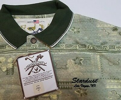 Stardust Casino Polo Shirt Mens Large - Las Vegas - Green Hawaiian Golf NWT
