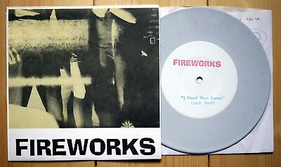 """7"""" SINGLE FIREWORKS I need your luven GREY VINYL limited to 300 garage rock"""