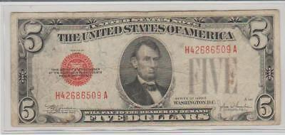 1928-E $5 Red Seal United States Note (6509)