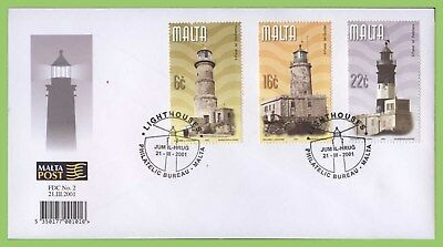 Malta 2001 Maltese Lighthouses set First Day Cover