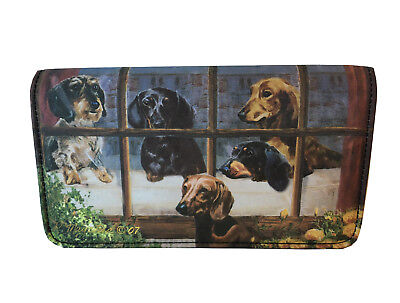NEW Dachshunds Doxies Short Long Hair Fur Dog Wallet Ruth Maystead Best Friends