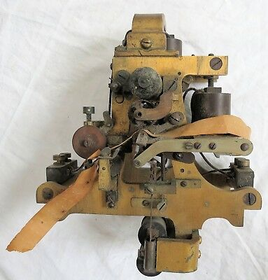 Stock Ticker Tape Machine New York Quotation Co. (Germany) Brass Old Vtg Antique