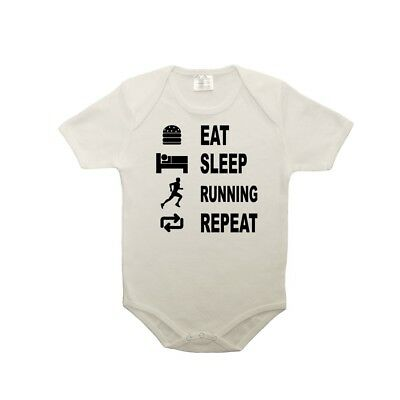 Body bébé 100% coton eat sleep running
