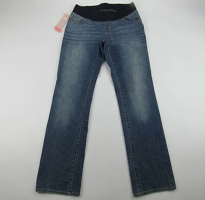 Liz Lange Maternity Under The Belly Jeans Boot Cut Distressed Stretch S L XL XXL