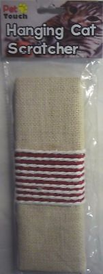 Pet Touch HANGING CAT SCRATCHER Scratching Post Board Kitten Corner Wall HT6160