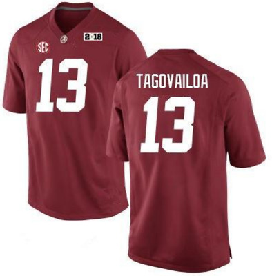 Tua Tagovailoa #13 Alabama Stitched Football Jersey With 2018 Patch