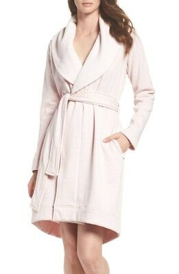 UGG Brand Women's Blanche Seashell Pink Plush Bathrobe Spa Robe Shawl UA5178W