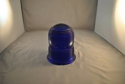 Kopp Glass Industrial Blue Dome Light Cover Shade K 30 Ap3522-3-8 Made In Usa