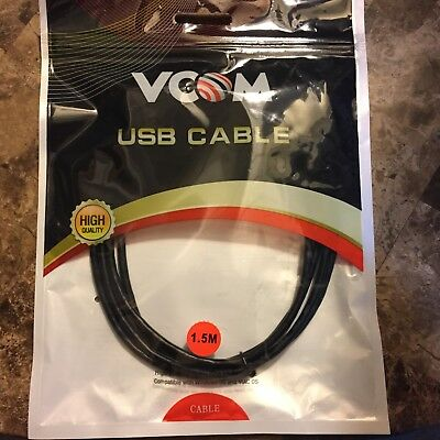 Lot of 50 Micro USB cables 5ft 1.5M Black Charge + Data with packaging