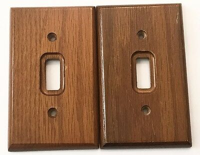 Wood Flush Device Light Switch Cover Plates One Toggle Brown Set Of Two Amer Tac